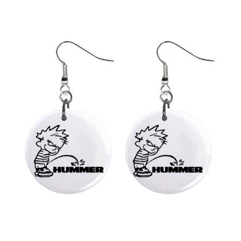 Pee On Hummer Dangle Earrings Jewelry 1 inch Buttons 12305976