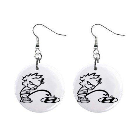 Pee On Hyundia Dangle Earrings Jewelry 1 inch Buttons 12305977