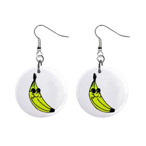 Cool Banana Dangle Earrings Jewelry 1 inch Buttons 12306005