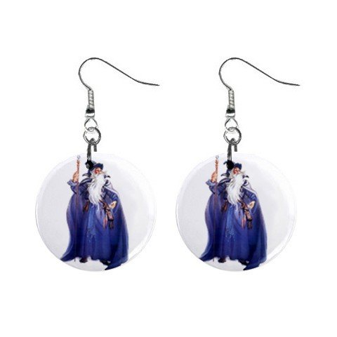 Wizard Mystic Dangle Earrings Jewelry 1 inch Buttons12334745