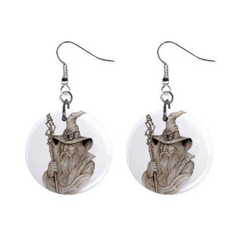 Wizard Mystic Dangle Earrings Jewelry 1 inch Buttons12334743