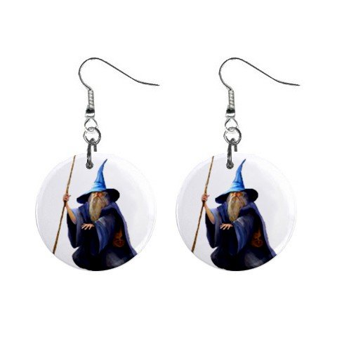 Wizard Mystic Dangle Earrings Jewelry 1 inch Buttons12334739