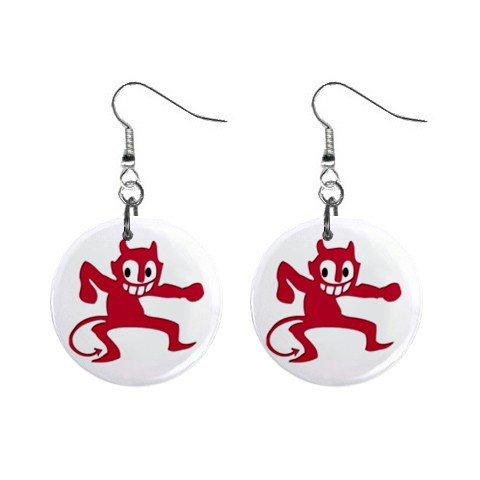 Little Imp Devil Dangle Earrings Jewelry 1 inch Buttons 12320053