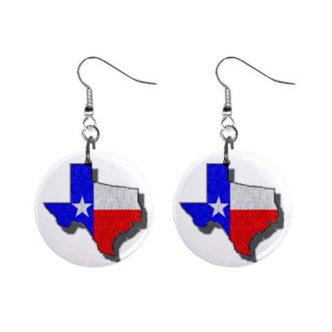 State of Texas Flag Map of Texas Dangle Earrings Jewelry 1 inch Buttons 12320085