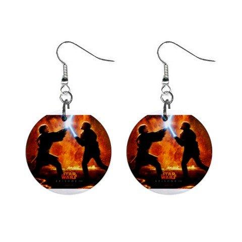 Star Wars Dangle Earrings Jewelry 1 inch Buttons 12320255