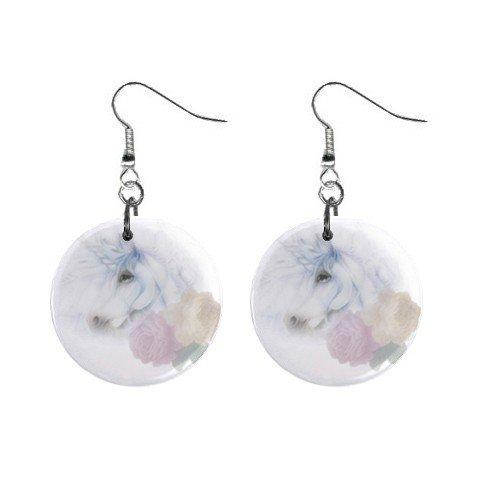 Unicorn Dangle Earrings Jewelry 1 inch Buttons 12041301