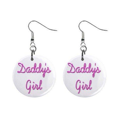 Daddy's Girl Dangle Earrings Jewelry 1 inch Buttons 12116684