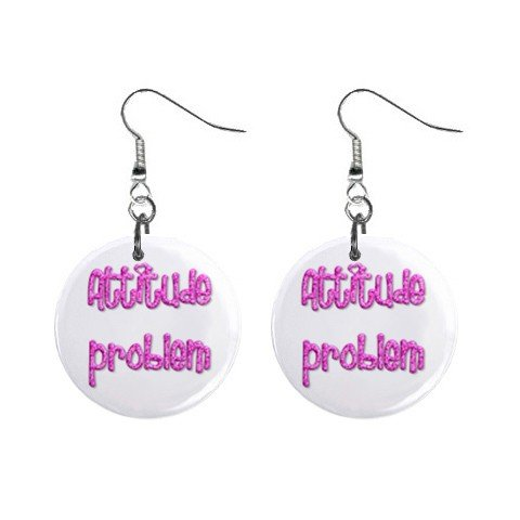 attitude problem Dangle Earrings Jewelry 1 inch Buttons 12116688