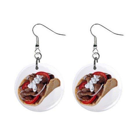 Gyros Dangle Earrings Jewelry 1 inch Button 12322867