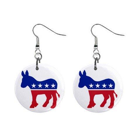 Democrat Donkey #1 Dangle Earrings Jewelry 1 inch Buttons 12323130