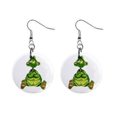 Cartoon Turtle Dangle Earrings Jewelry 1 inch Buttons 12479608