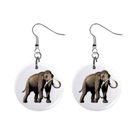 Mammoth Dangle Earrings Jewelry 1 inch Buttons 12479769