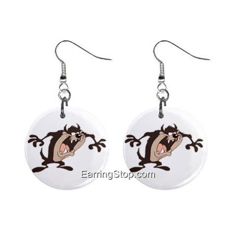 Taz Devil #4 Dangle Earrings Jewelry 1 inch Buttons 12409537