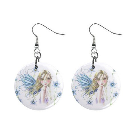 Fairy Fairie #4 Dangle Earrings Jewelry 1 inch Buttons 12310655