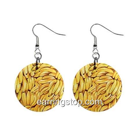 Go Bananas Dangle Earrings Jewelry 1 inch Buttons 12398777