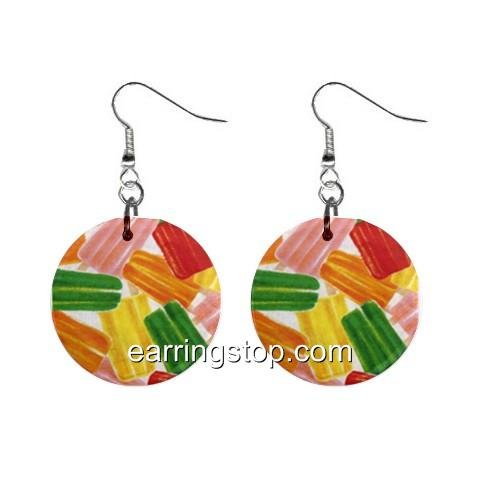 Popsicles Dangle Earrings Jewelry 1 inch Buttons 12345358