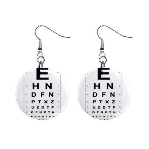 Eye Chart  Dangle Earrings Jewelry 1 inch Buttons 12628328