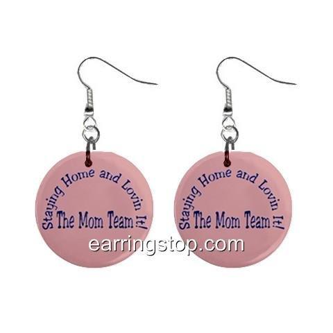 Mom Team Melaleuca  Dangle Earrings Jewelry 1 inch Buttons 12317011