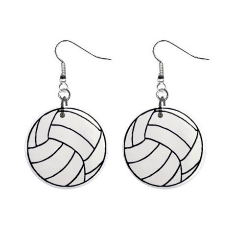 Volleyball #2 Dangle Earrings Jewelry 1 inch Buttons 12479798