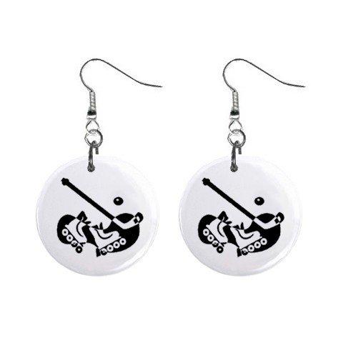 Roller Hockey Dangle Earrings Jewelry 1 inch Buttons 12619840