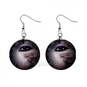 Goth #3 Face Dangle Earrings Jewelry 1 inch Buttons 12479619
