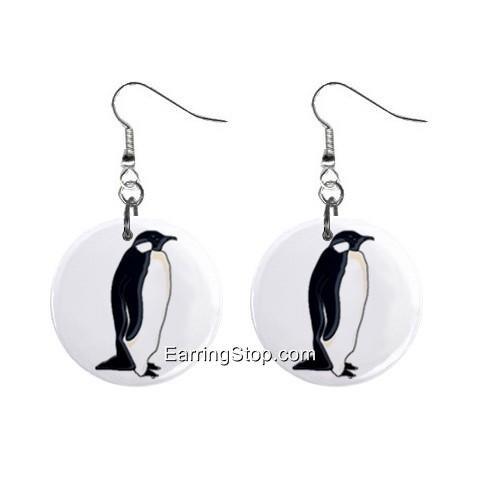 Penguin #1 Dangle Earrings Jewelry 1 inch Buttons 12418566