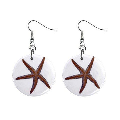 Star Fish Dangle Earrings Jewelry 1 inch Buttons 12479786