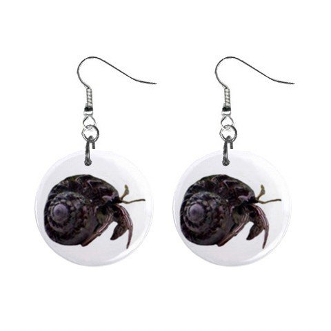Crab Dangle Earrings Jewelry 1 inch Buttons 12479724