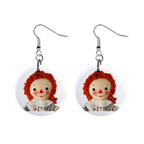 Raggedy Ann #2 Dangle Earrings Jewelry 1 inch Buttons 12479782