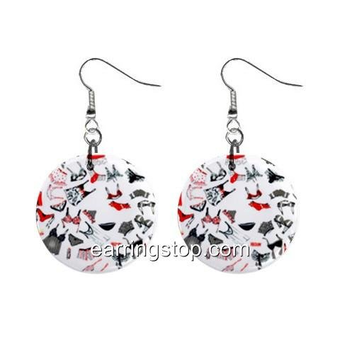 Undies Dangle Earrings Jewelry 1 inch Buttons 12398823