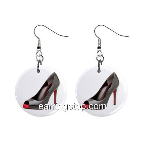 High Heels Dangle Earrings Jewelry 1 inch Buttons 12398803