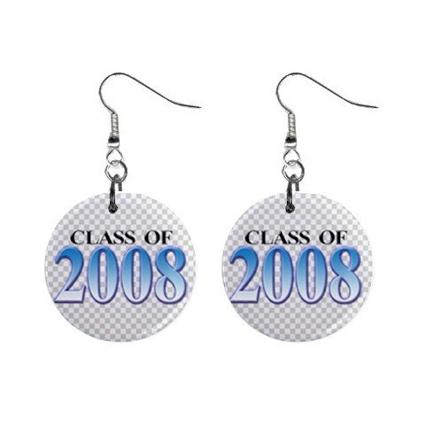 Class of 2008 Dangle Earrings Jewelry 1 inch Buttons 12628261