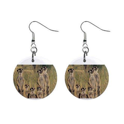 Meerkat Family #2 Dangle Earrings Jewelry 1 inch Buttons 12479771