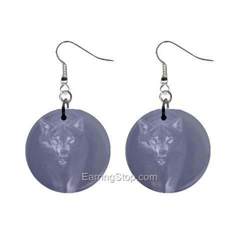 Beast Dangle Button Earrings Jewelry 1 inch Round 12734840