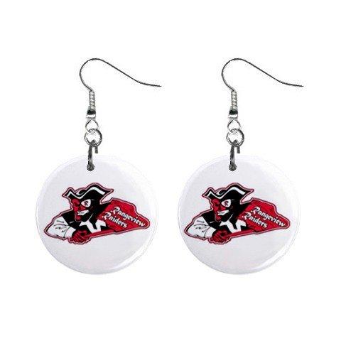 Rangeview High School Mascot Dangle Button Earrings Jewelry 12949810
