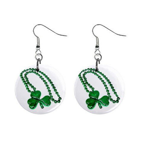 St. Paddy Patrick Day  Dangle Button Earrings Jewelry 13501037