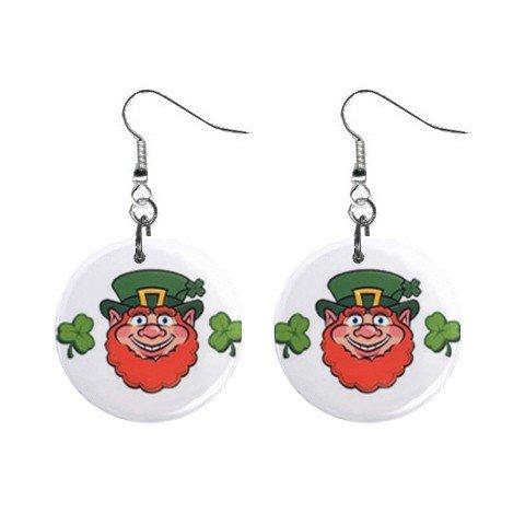 Leprechaun St. Paddy Patrick Day  Dangle Button Earrings Jewelry 13501038