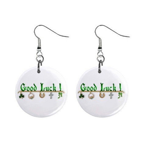 St. Paddy Patrick Day  Charms Dangle Button Earrings Jewelry 13501051