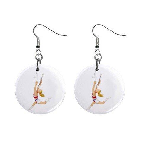 Baton Twirling wirler Dangle Button Earrings Jewelry 14000996