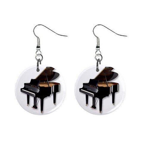 New Grand Piano Dangle Button Earrings Round Jewelry 14116769