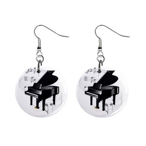 New Piano Music Notes Dangle Button Earrings Jewelry 13690093