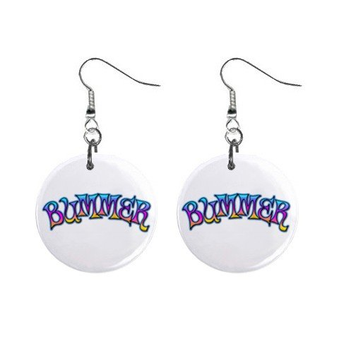 New BUMMER Dangle Button Earrings Jewelry 13631213