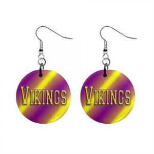Vikings Minnesota Dangle Earrings Jewelry 1 inch Buttons 16502052