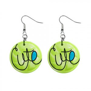 CARTOON CUTE Dangle Earrings Jewelry 1 inch Buttons 21494637
