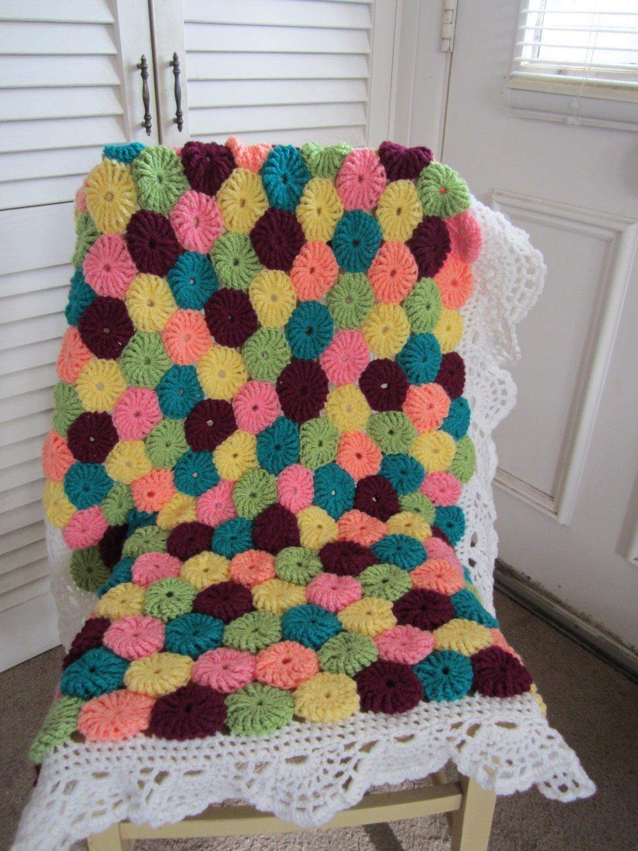 Crochet Yo-Yo Baby Afghan