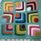 Granny Square American girl doll blanket