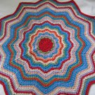 Ripple Crochet rug Round rug on stripes