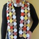 Crochet Granny square scarf