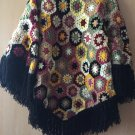 Granny Square Poncho Patchwork  poncho