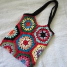 Crochet Granny Square art purse